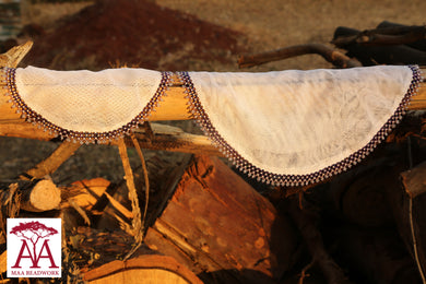 Beaded food net covers in purple fading