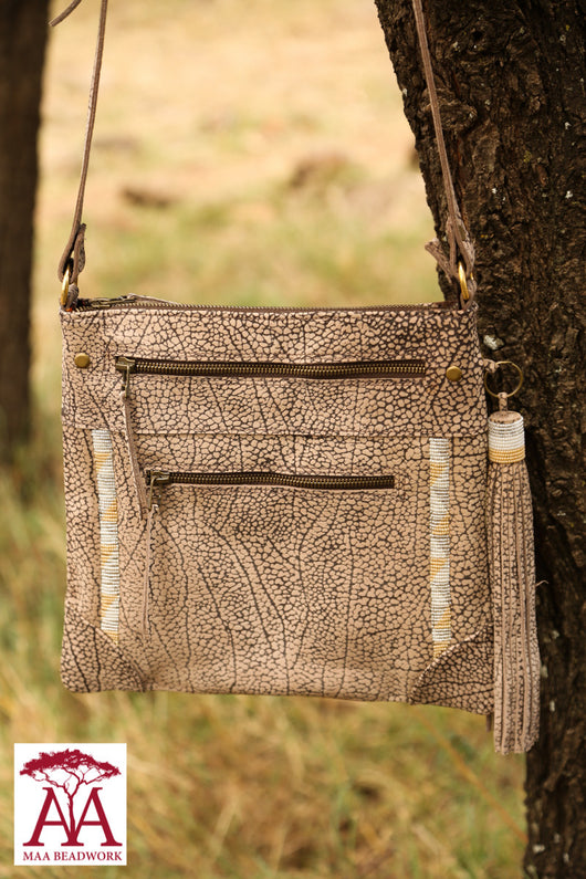 Maa Cross Body Bag in beige