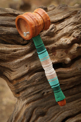 Bottle Opener Mallet in Green beading