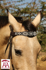 Wide horse brow band in monochrome