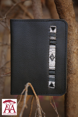 Leather Passport Cover in black