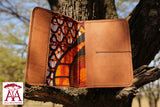 Leather Passport Cover in tan brown
