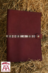 Notebook Cover in Purple leather
