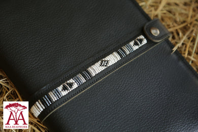 Notebook Cover in black leather