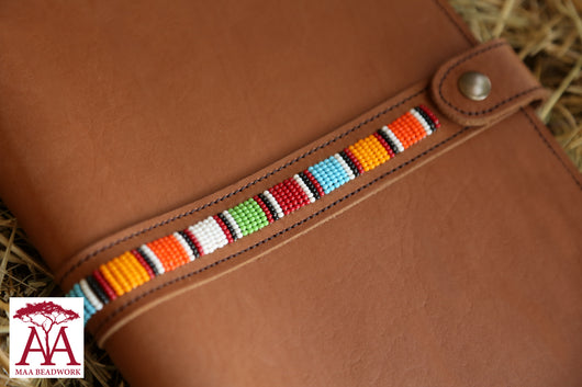 Notebook Cover in Tan leather