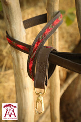 Dog Lead / Leash in fading red chevron design