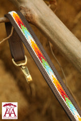 Dog Lead / Leash in bright Maasai colours
