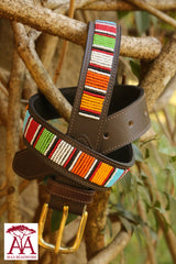 "1.25"" Striped Belt in traditional Maasai colours"