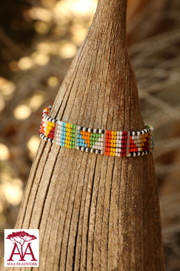 Enkatarr bracelet in traditional colours, option one