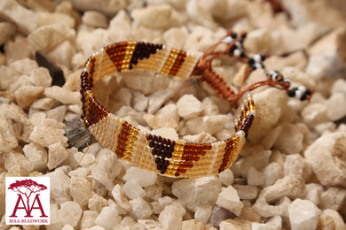Enkatarr bracelet in brown and gold