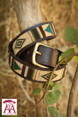 "1.5"" Teal Diamond Belt"