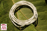 Wrap bead bracelet in white and silver
