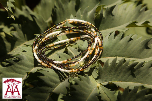Wrap bead bracelet in bronze fading