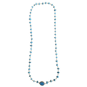 Turquoise Crystal Long Necklace