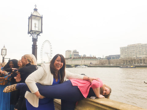 Fran being saved from falling over the edge House of Lords