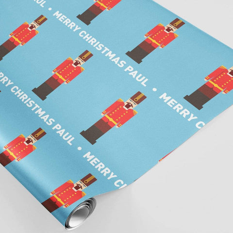 Personalised Christmas Wrapping Paper Nutcracker