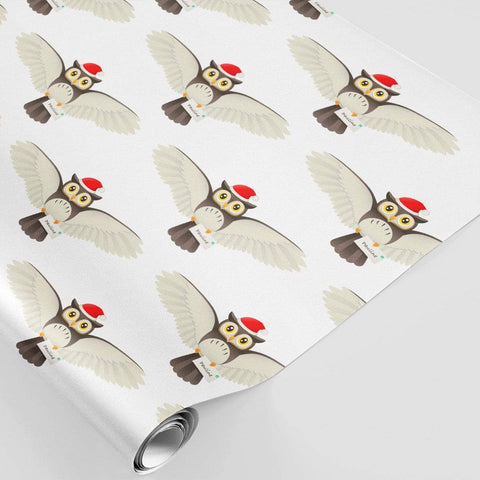 Personalised Christmas Wrapping Paper Owl