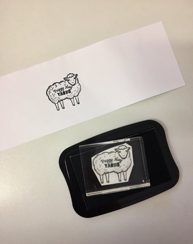 Bespoke Rubber Stamp for Peggy May Yarns