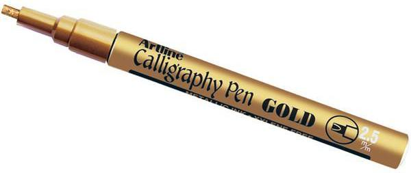 Gold Calligraphy pen - stamptastic-uk