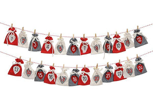 Scandinavian Style Advent Calendar - little sacks - stamptastic-uk