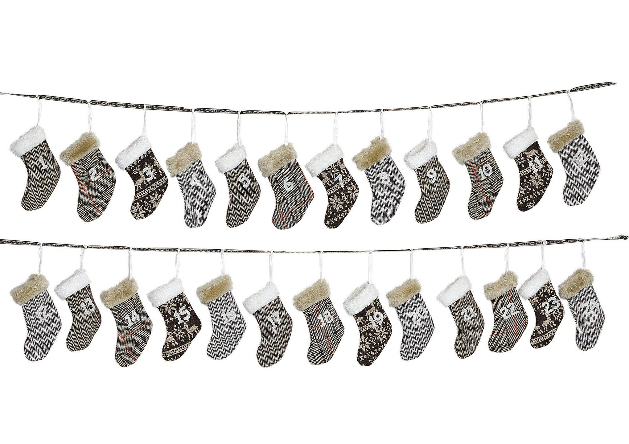 Scandinavian Style Advent Calendar - mini stockings - stamptastic-uk