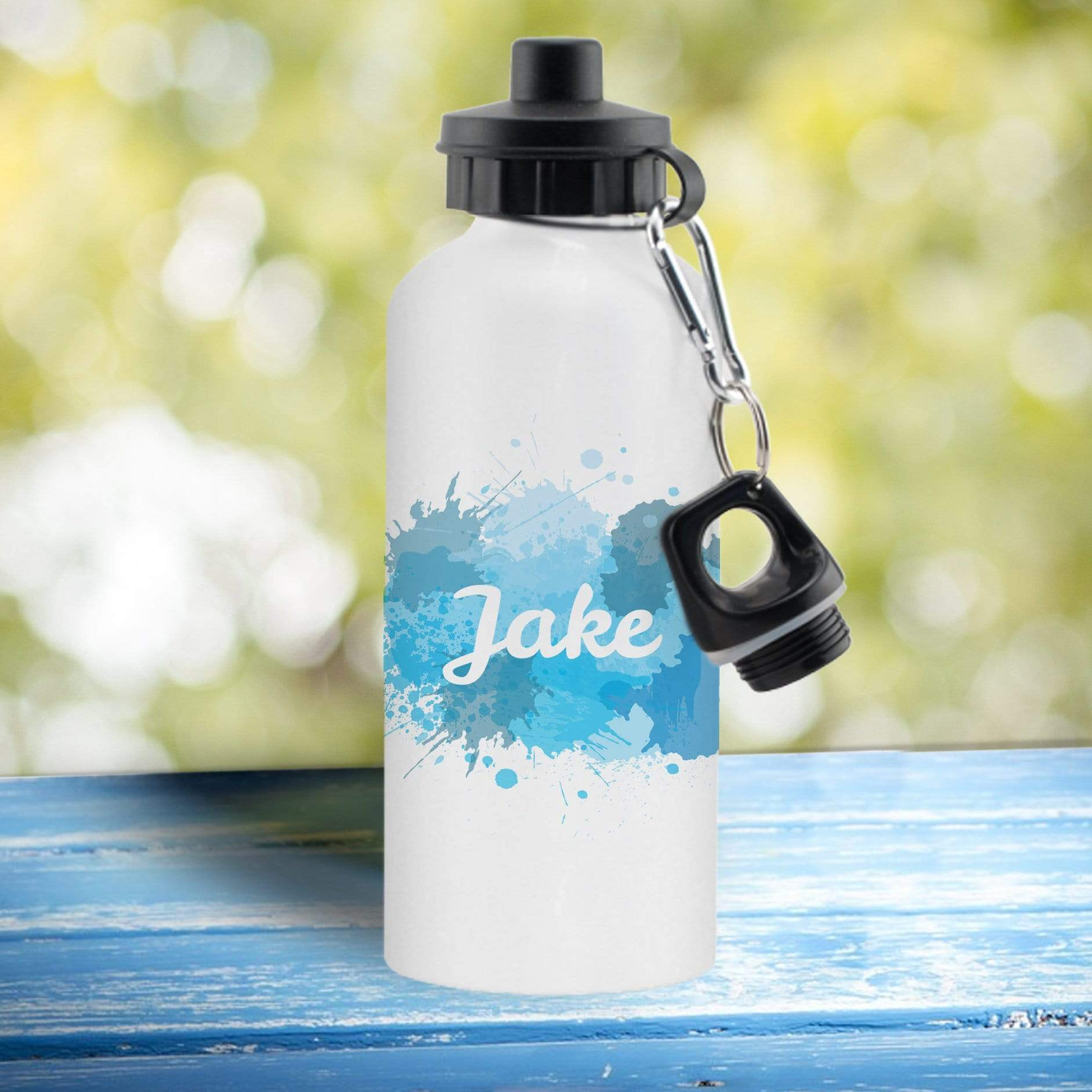 Splash White Sports Bottle - stamptastic-uk