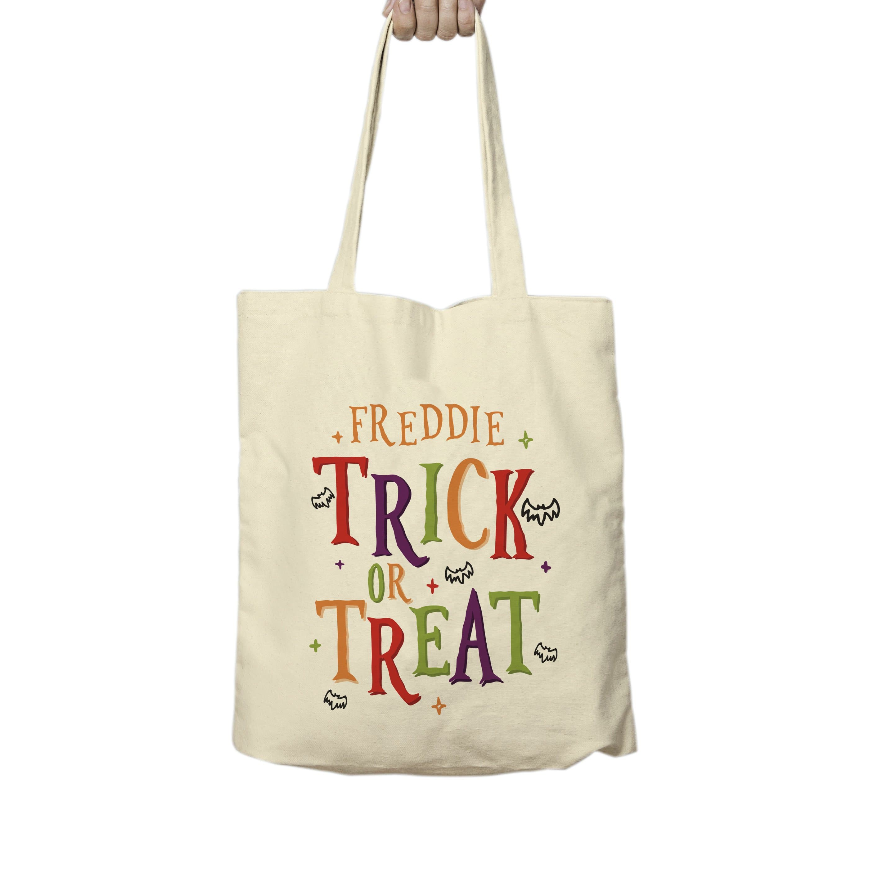 Trick or Treat Halloween Treats Tote Bag - stamptastic-uk