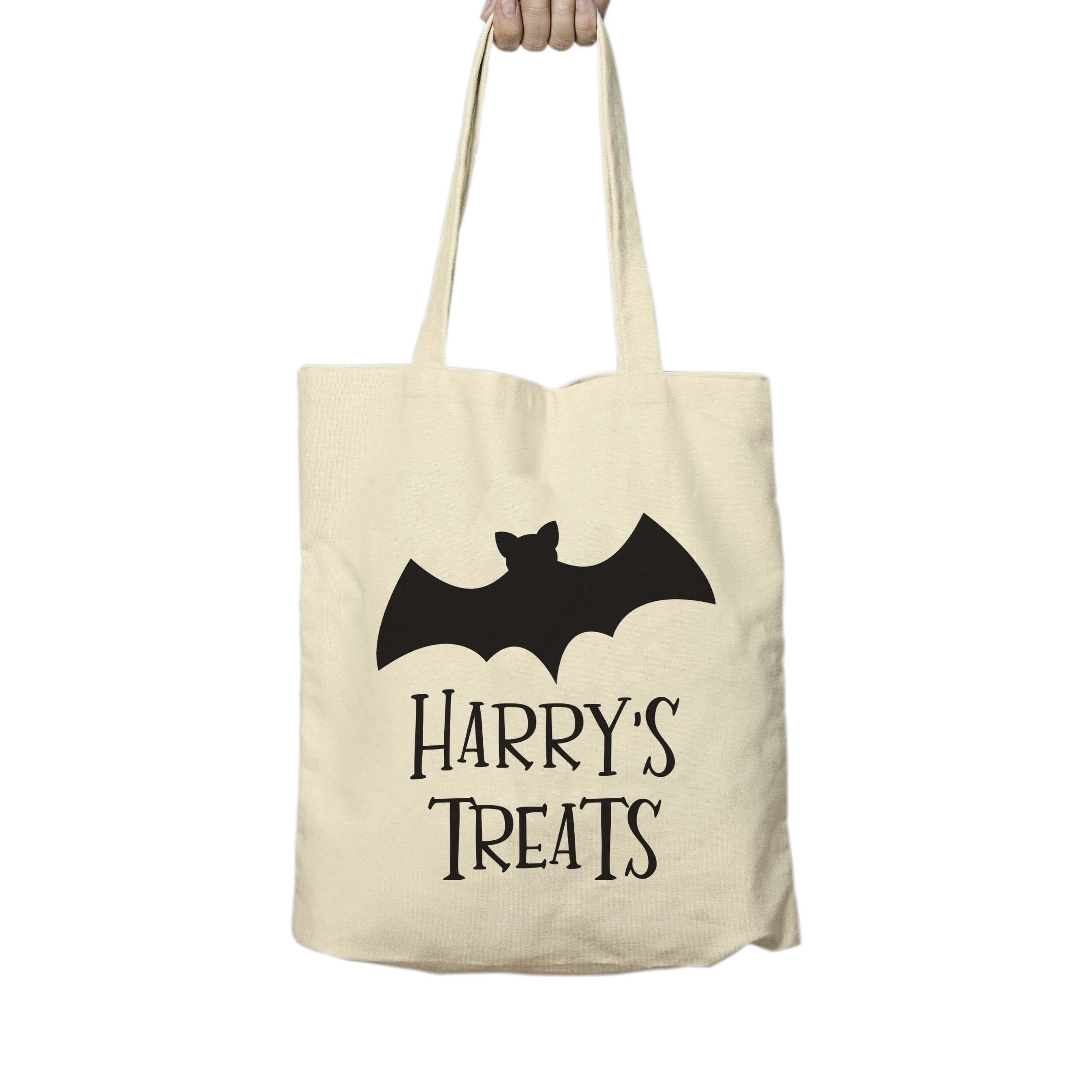 Bat Halloween Treats Tote Bag - stamptastic-uk