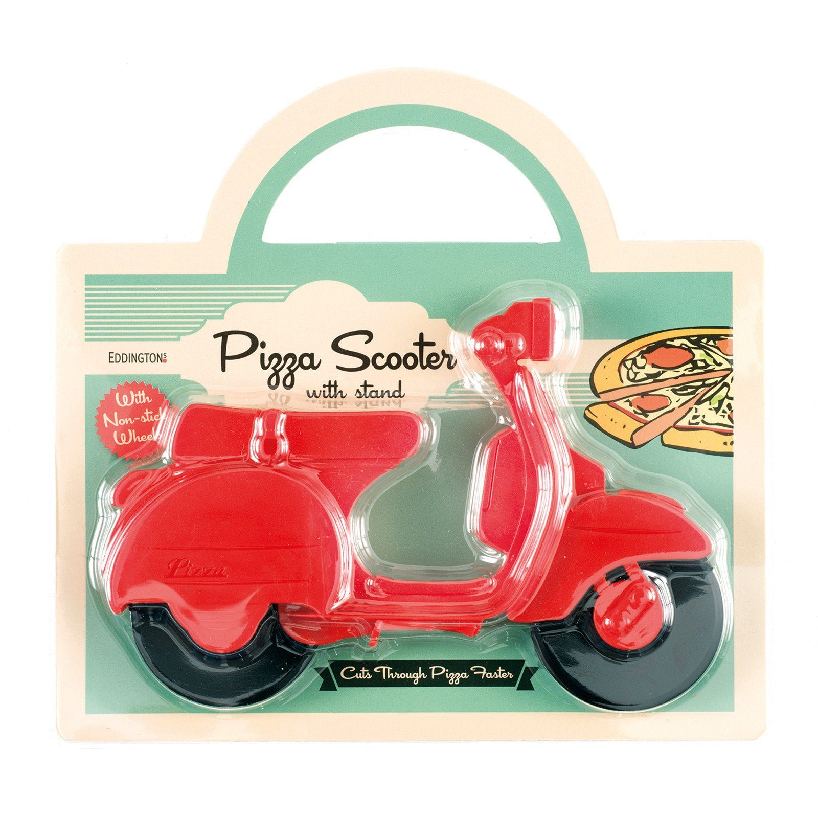 Pizza Cutter - Red Lambretta