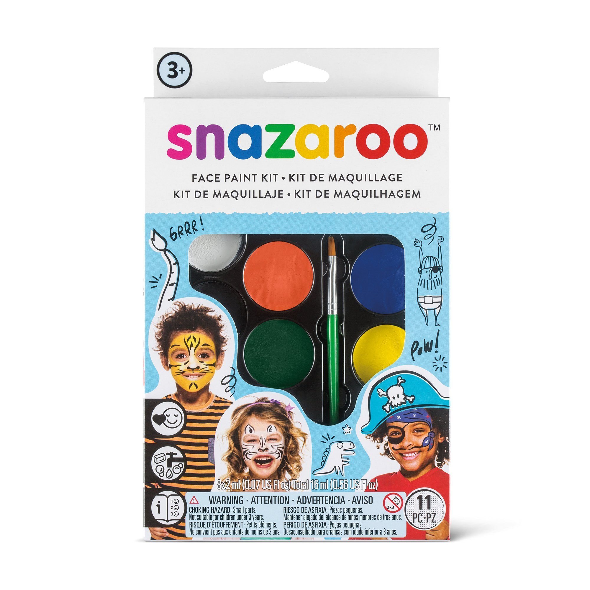 "Snazaroo Facepainting ""Adventure"" Kit - stamptastic-uk"