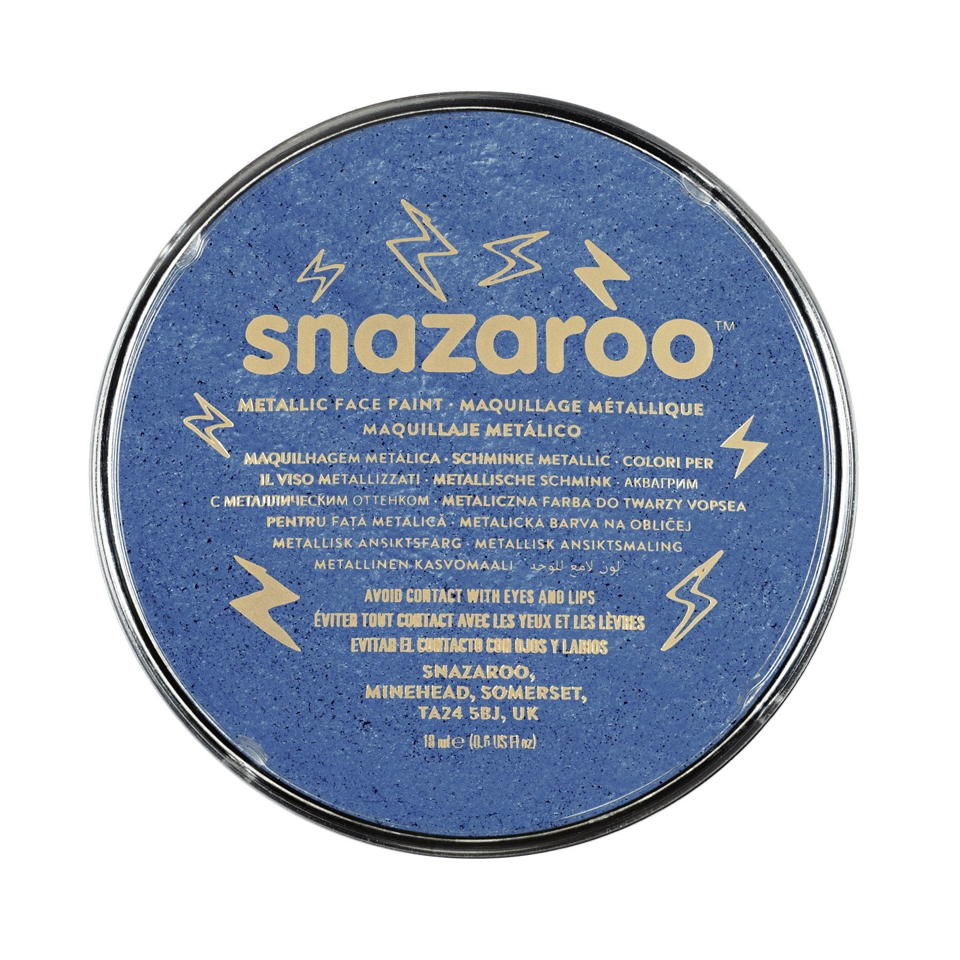 Snazaroo Classic Electric Blue Face & Body Paint - stamptastic-uk