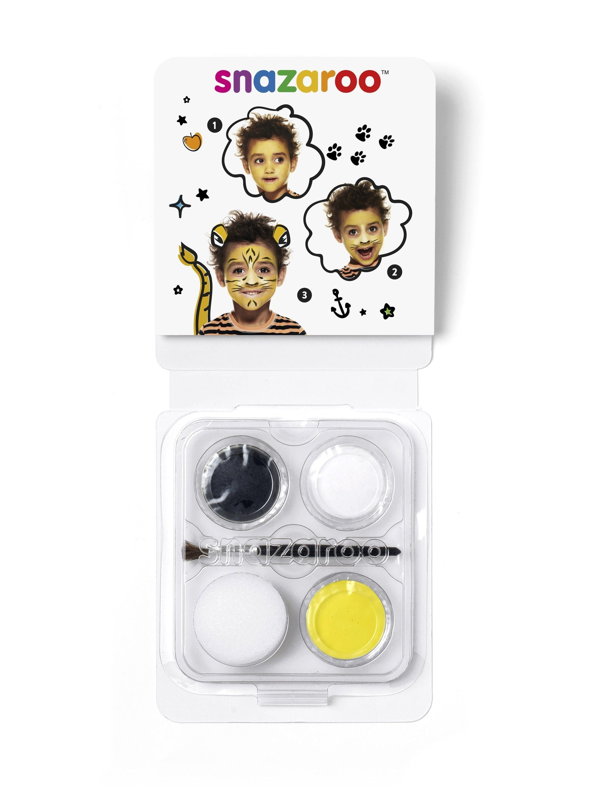 Snazaroo Mini Face Paint - Tiger - stamptastic-uk