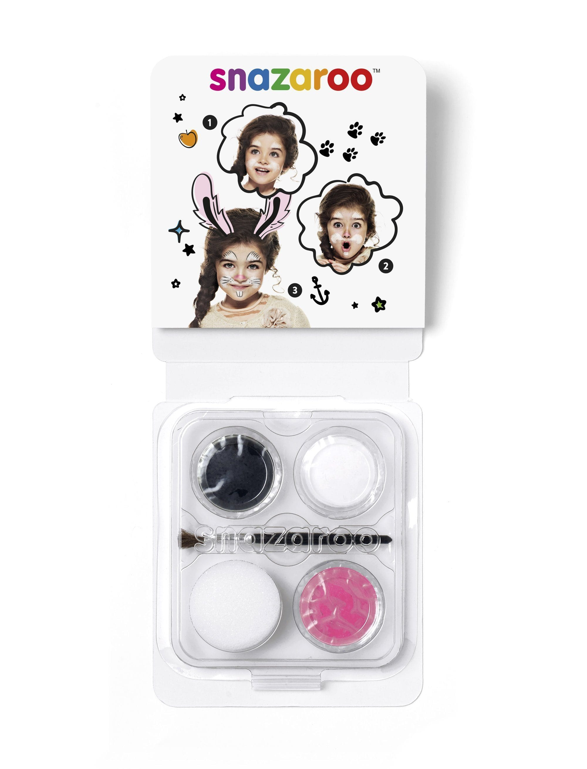 Snazaroo Mini Face Paint - Bunny - stamptastic-uk