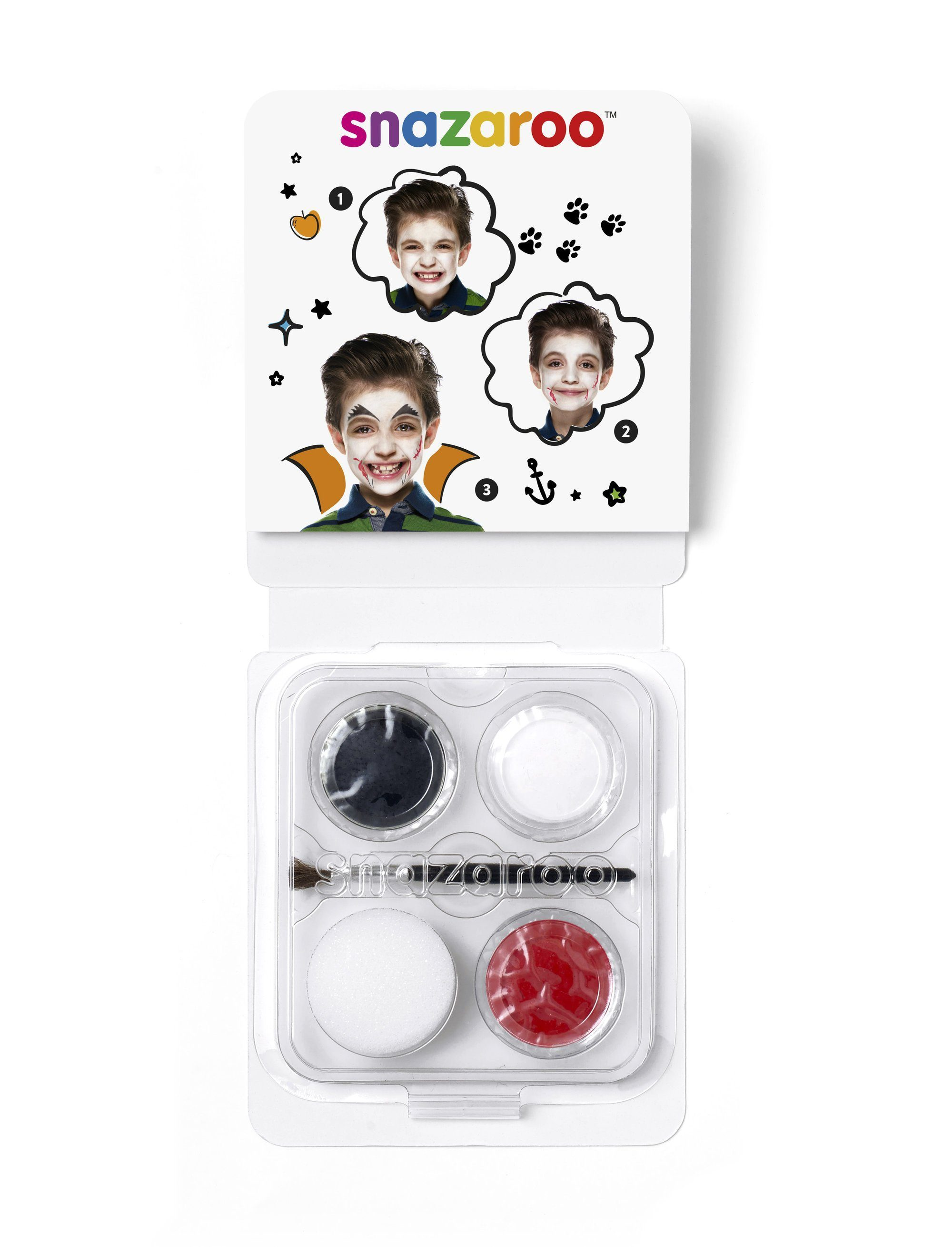 Snazaroo Mini Face Paint - Vampire - stamptastic-uk