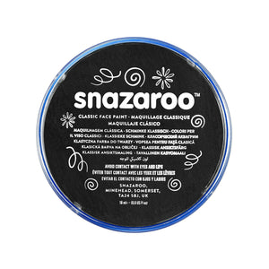 Snazaroo Classic Black Face & Body Paint - stamptastic-uk