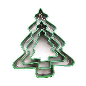Set of 3 Biscuit Cutters - Christmas Tree - stamptastic-uk