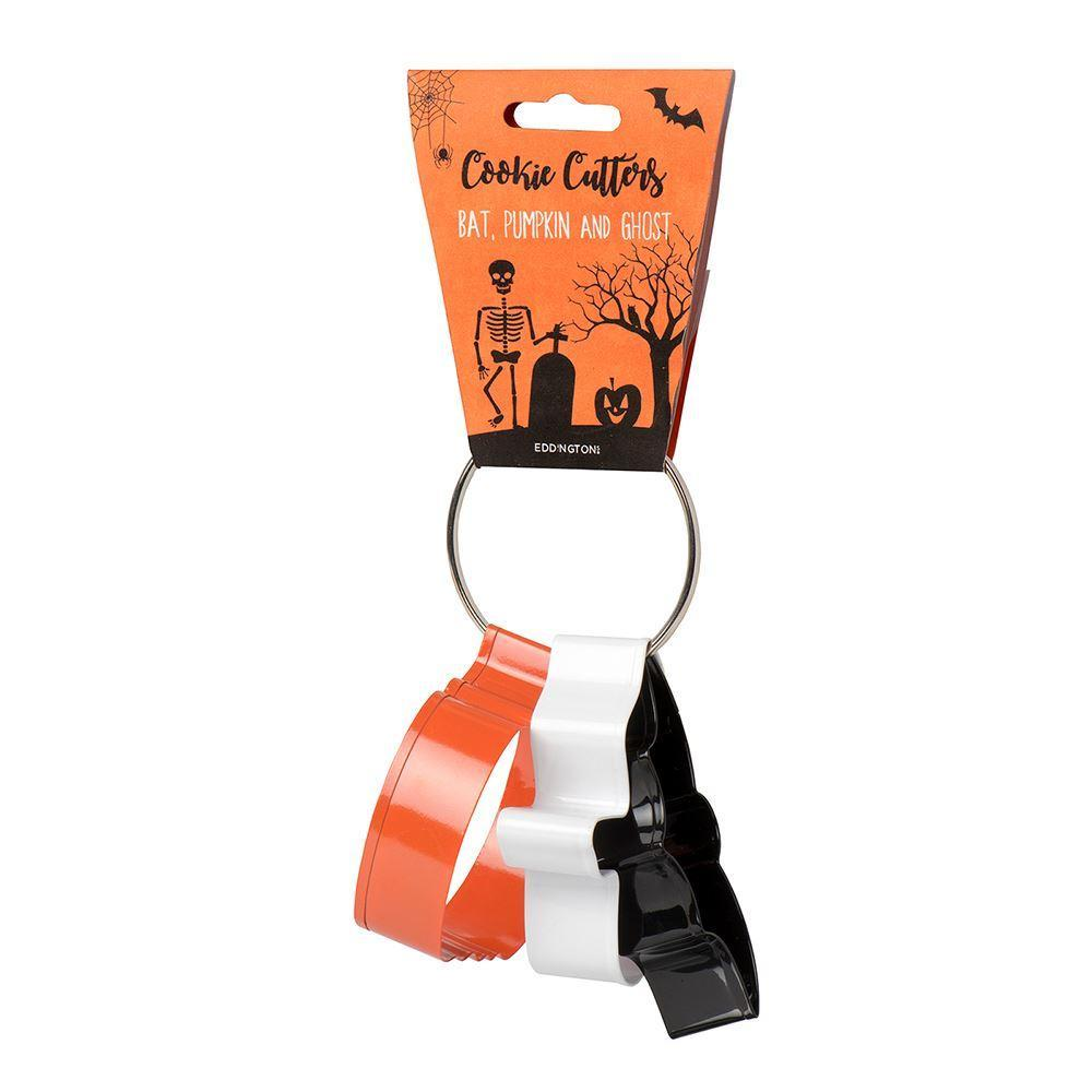 Halloween cutters set of 3 - bat, ghost and pumpkin - stamptastic-uk