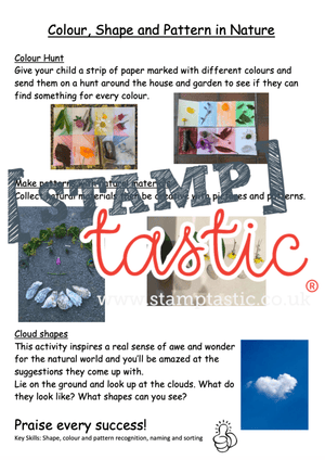 Starting School Free Resource: Colour, Shape and Pattern in Nature - stamptastic-uk