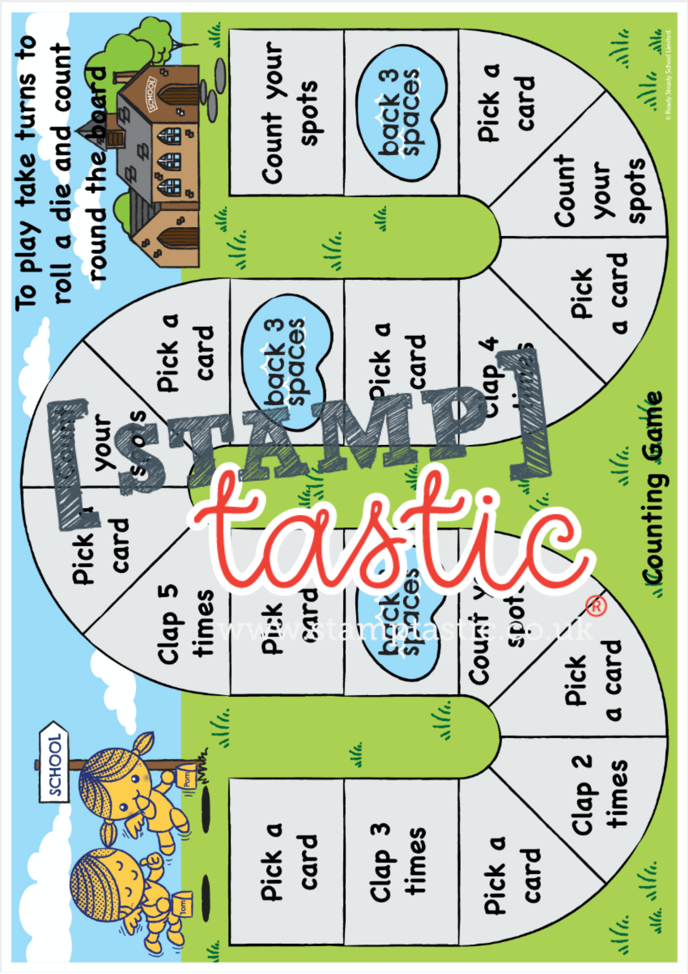 Starting School Free Resource: Counting Game - stamptastic-uk