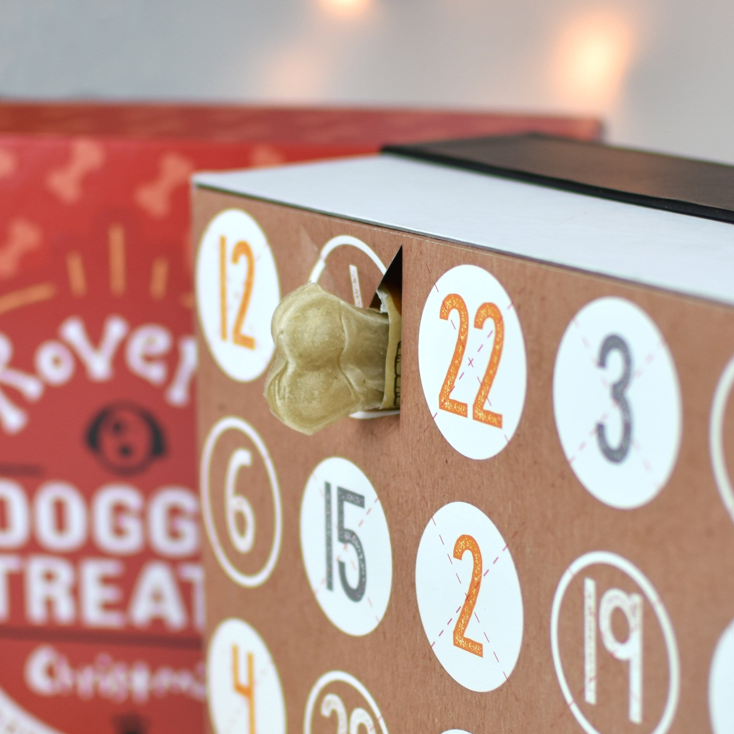 Personalised Dog Treats Advent Box