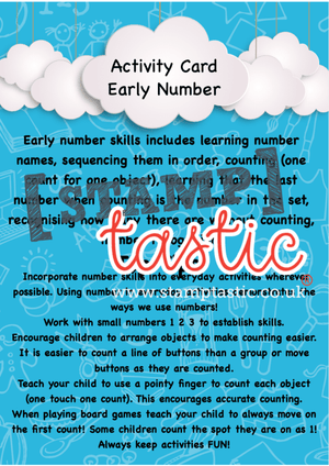 Starting School Free Resource: Early Number Skills Activity Card - stamptastic-uk