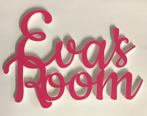 Personalised Name Room Sign - stamptastic-uk
