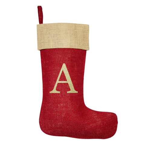 Monogrammed Red Christmas Stocking