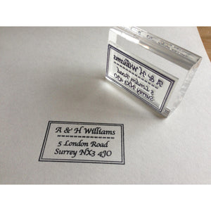 Classic Address Stamp - stamptastic-uk