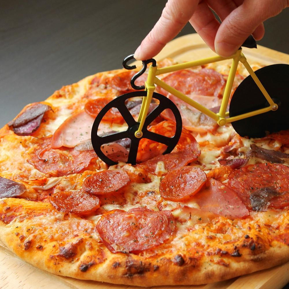 Pizza Bike Cutter - discontinued - stamptastic-uk