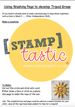 Starting School Free Resource: Learning To Hold A Pencil - stamptastic-uk