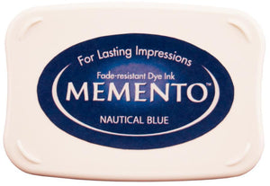 Memento Nautical Blue Inkpad - stamptastic-uk