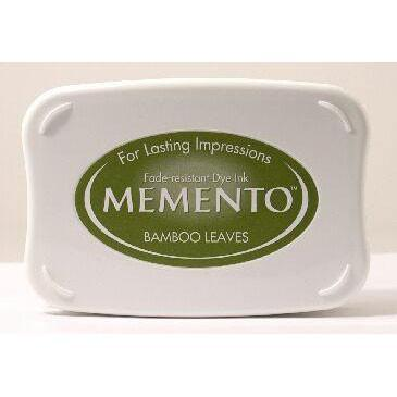Memento Bamboo Leaves Inkpad - stamptastic-uk