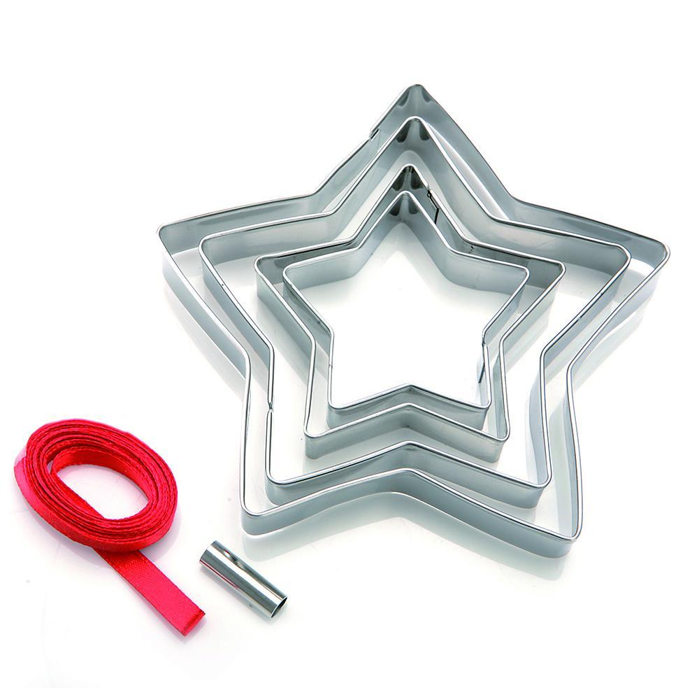 Set of 5 Biscuit Cutters - Christmas tree decoration - Star ...