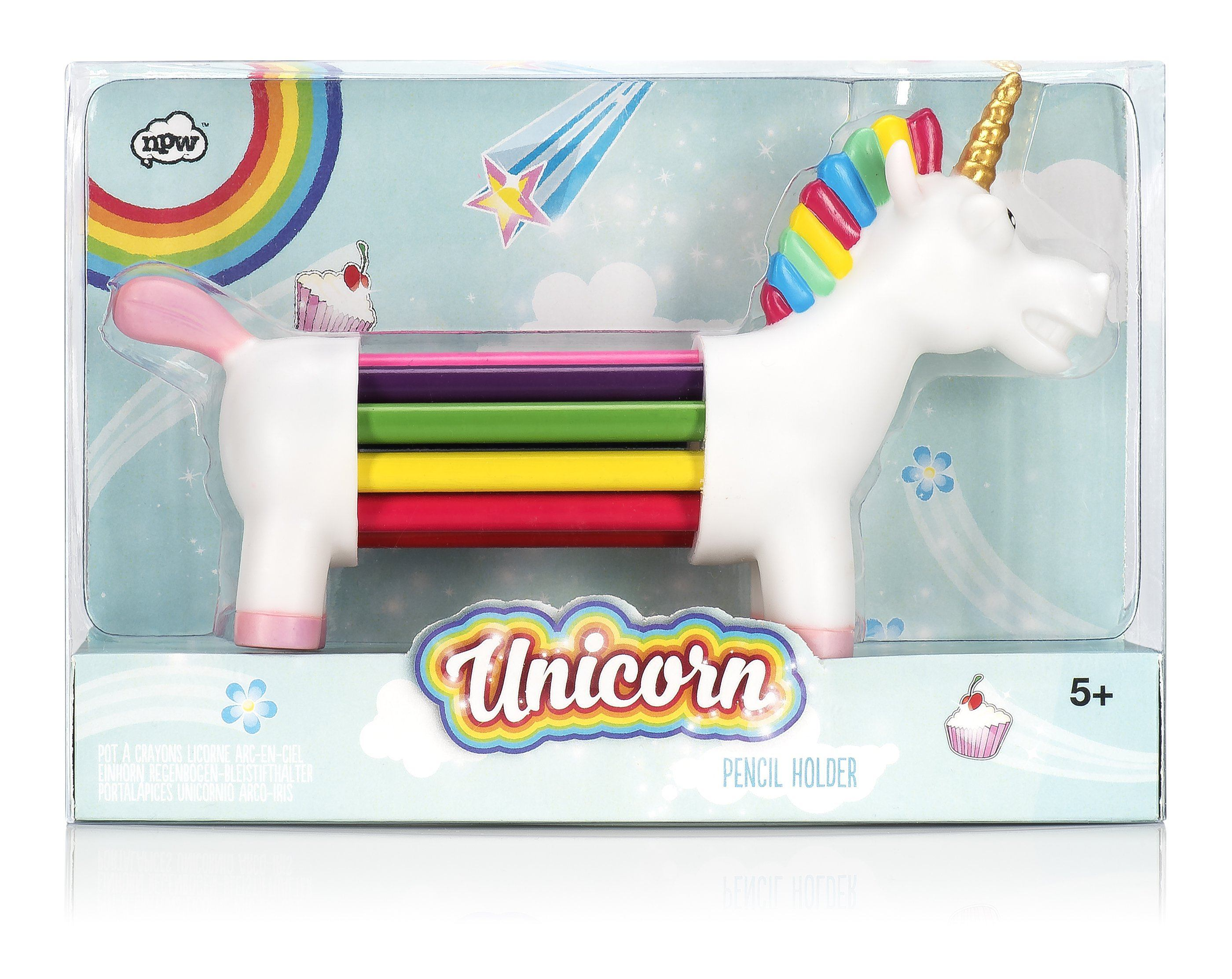 Unicorn Rainbow Pencils - stamptastic-uk